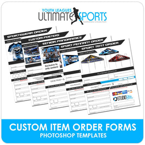 Custom Product Order Forms - Ultimate Youth Sports Marketing Templates