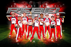 REBEL - NEXT Series - Team Poster/Banner HT Downloadable Template Photo Solutions PSMGraphix