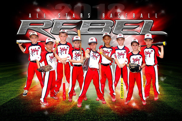 REBEL - NEXT Series - Team Poster/Banner HT-Photoshop Template - Photo Solutions