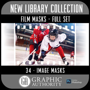 New Library - Film Masks - Full Collection-Photoshop Template - Graphic Authority