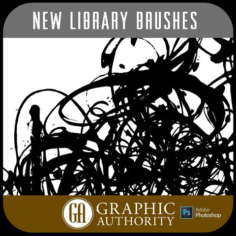 New Library Collection Photoshop ABR Brushes-Photoshop Template - Graphic Authority