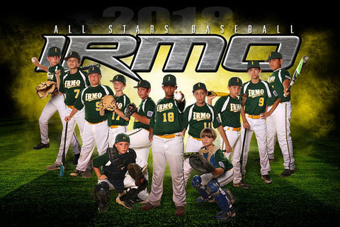 IRMO - NEXT Series - Team Poster/Banner HT Downloadable Template Photo Solutions PSMGraphix