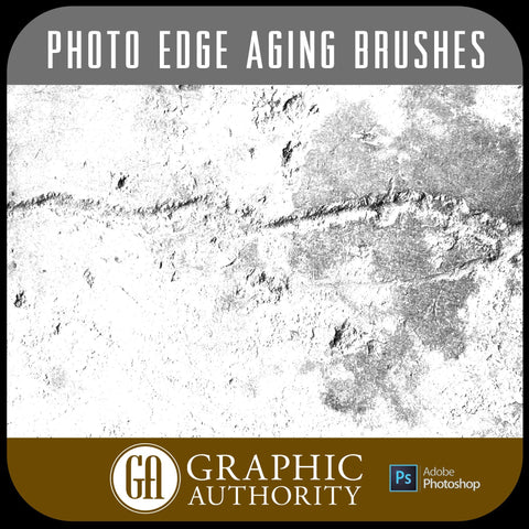Photo Edge Collection - Aging -  Photoshop ABR Brushes-Photoshop Template - Graphic Authority
