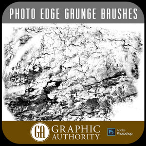 Photo Edge Collection - Grunge -  Photoshop ABR Brushes-Photoshop Template - Graphic Authority