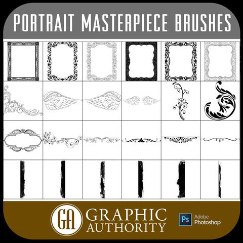 Portrait Masterpiece Collection - Photoshop ABR Brushes-Photoshop Template - Graphic Authority