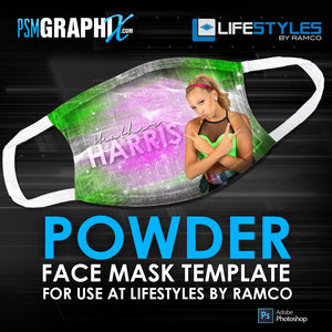 Powder - Face Mask Template (Ramco)-Photoshop Template - PSMGraphix