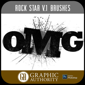 Rock Star V.1 Collection - Photoshop ABR Brushes-Photoshop Template - Graphic Authority