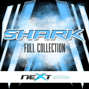 01 Full Set - SHARK Collection Photoshop Template -  PSMGraphix