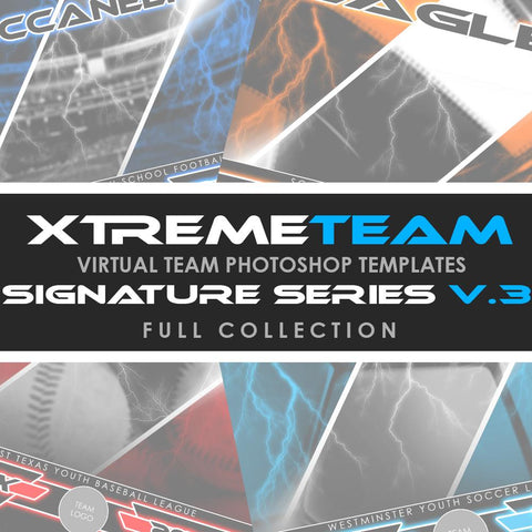 08 - Xtreme Team - V3 Signature Series - Full Photoshop Template Collection Downloadable Template Photo Solutions PSMGraphix