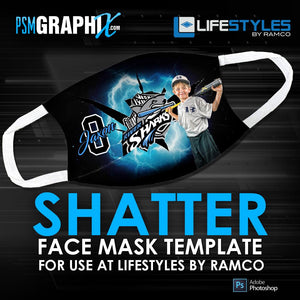 Shatter - Face Mask Template (Ramco)-Photoshop Template - PSMGraphix