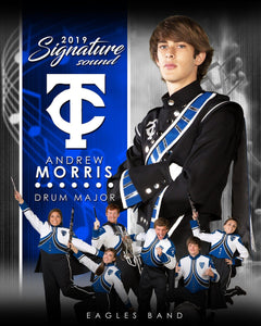 Band - v.1 - Signature Player - V T&I Poster/Banner Downloadable Template Photo Solutions PSMGraphix