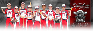 Baseball - v.1 - Signature Player - Team Panoramic Downloadable Template Photo Solutions PSMGraphix