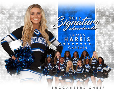 Cheer - v.1 - Signature Player - H T&I Poster/Banner Photoshop Template -  PSMGraphix