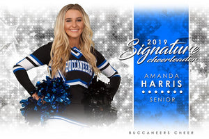 Cheer - v.1 - Signature Player - H Poster/Banner Downloadable Template Photo Solutions PSMGraphix