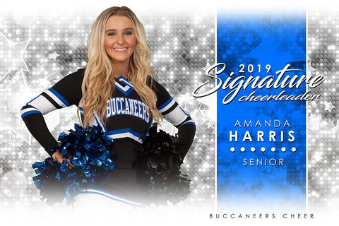 Cheer - v.1 - Signature Player - H Poster/Banner Photoshop Template -  PSMGraphix