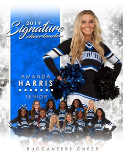 Cheer - v.1 - Signature Player - V T&I Poster/Banner Downloadable Template Photo Solutions PSMGraphix
