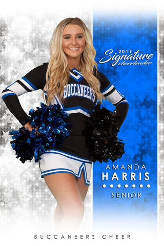 Cheer - v.1 - Signature Player - V Poster/Banner-Photoshop Template - Photo Solutions