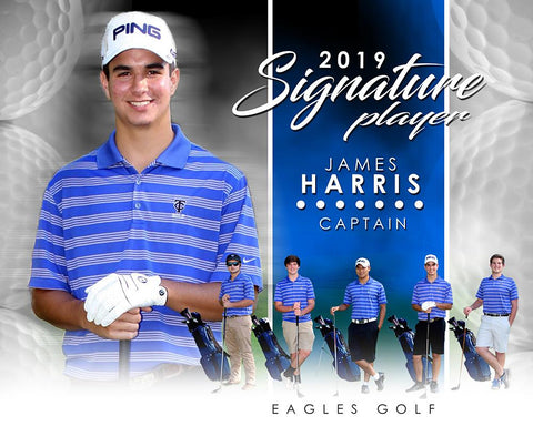 Golf- v.1 - Signature Player - H T&I Poster/Banner-Photoshop Template - Photo Solutions
