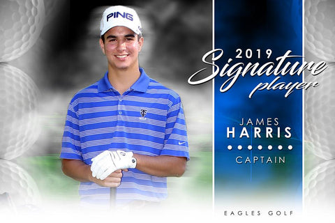 Golf- v.1 - Signature Player -H Poster/Banner-Photoshop Template - Photo Solutions