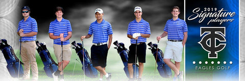 Golf - v.1 - Signature Player - Team Panoramic Photoshop Template -  PSMGraphix