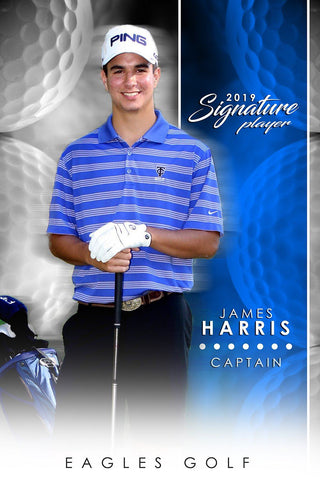 Golf- v.1 - Signature Player - V Poster/Banner-Photoshop Template - Photo Solutions
