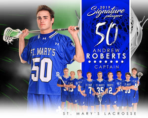 Lacrosse - v.1 - Signature Player - H T&I Poster/Banner-Photoshop Template - Photo Solutions
