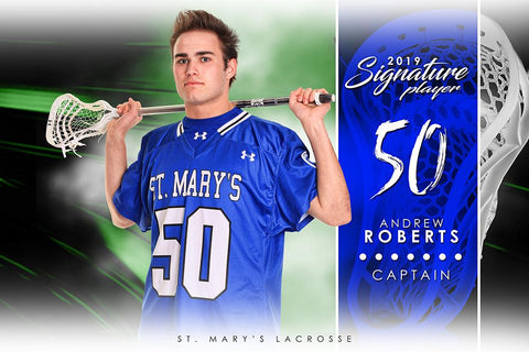 Lacrosse - v.1 - Signature Player - H Poster/Banner-Photoshop Template - Photo Solutions