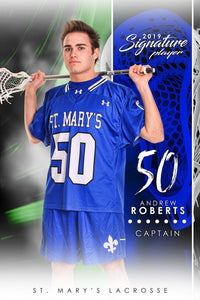 Lacrosse - v.1 - Signature Player - V Poster/Banner-Photoshop Template - Photo Solutions