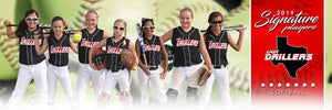 Softball - v.1 - Signature Player - Team Panoramic-Photoshop Template - Photo Solutions