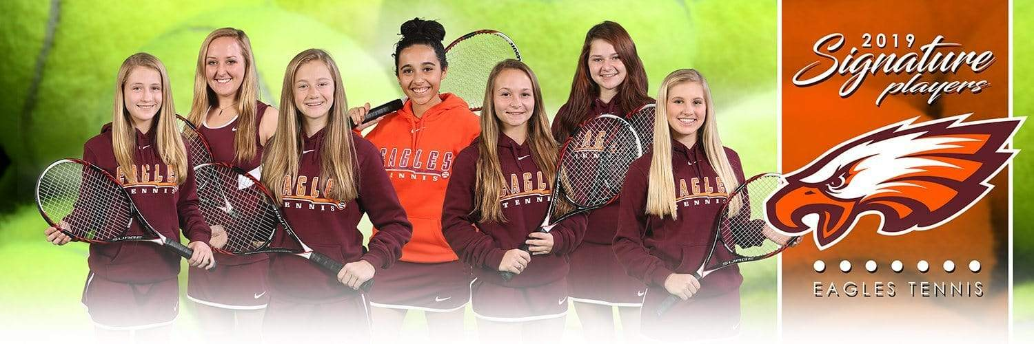 Tennis - v.1 - Signature Player - Team Panoramic-Photoshop Template - Photo Solutions