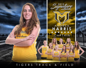 Track & Field - v.1 - Signature Player - H T&I Poster/Banner-Photoshop Template - Photo Solutions