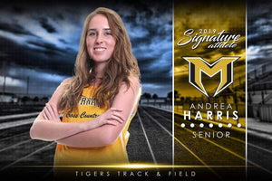 Track & Field - v.1 - Signature Player - H Poster/Banner-Photoshop Template - Photo Solutions