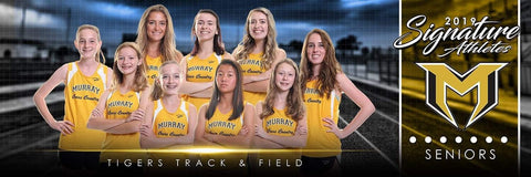 Track & Field - v.1 - Signature Player - Team Panoramic-Photoshop Template - Photo Solutions