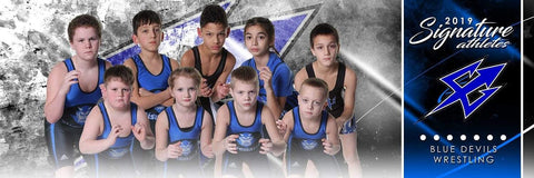 Wrestling - v.1 - Signature Player - Team Panoramic-Photoshop Template - Photo Solutions