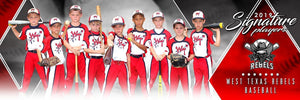 Baseball - v.2 - Signature Player - Team Panoramic Downloadable Template Photo Solutions PSMGraphix