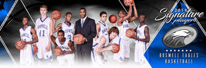 Basketball - v.2 - Signature Player - Team Panoramic Downloadable Template Photo Solutions PSMGraphix