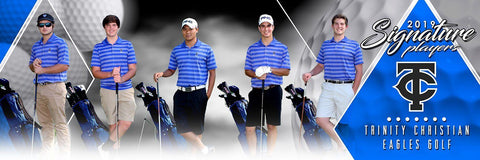 Golf - v.2 - Signature Player - Team Panoramic Photoshop Template -  PSMGraphix