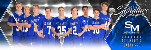 Lacrosse - v.2 - Signature Player - Team Panoramic-Photoshop Template - Photo Solutions