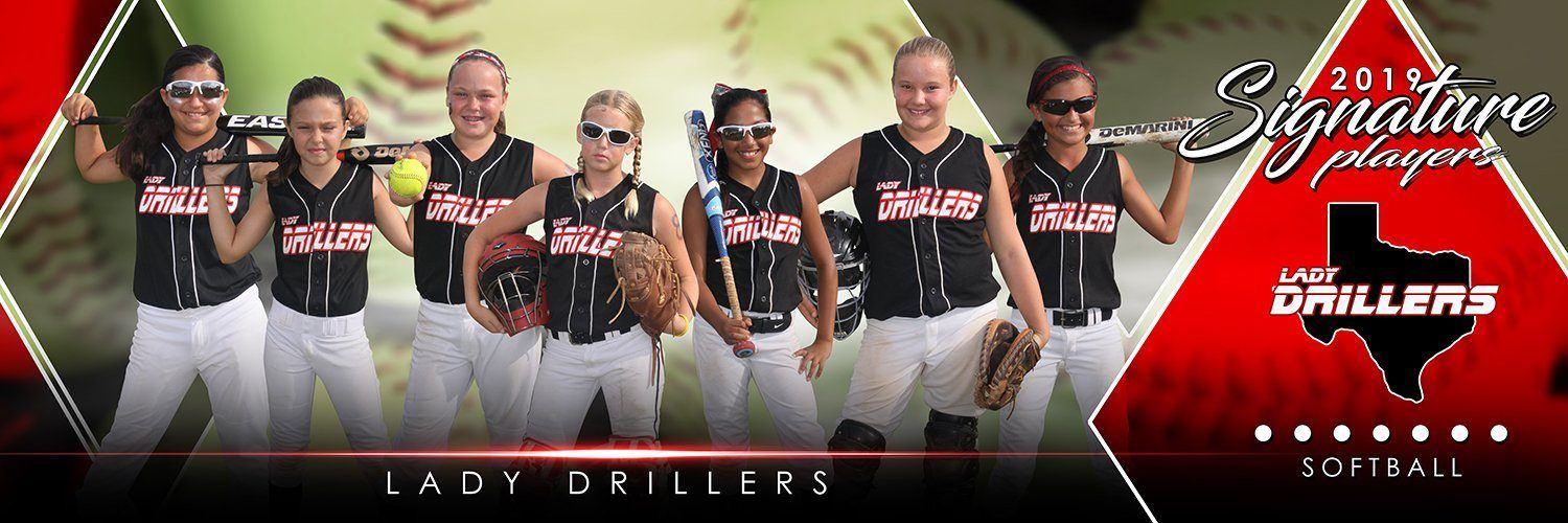 Softball - v.2 - Signature Player - Team Panoramic-Photoshop Template - Photo Solutions