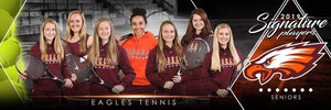 Tennis - v.2 - Signature Player - Team Panoramic Downloadable Template Photo Solutions PSMGraphix