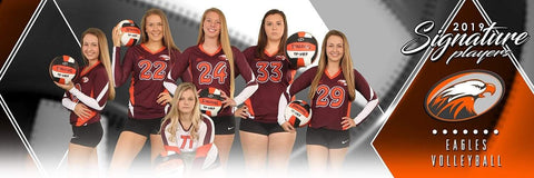 Volleyball - v.2 - Signature Player - Team Panoramic-Photoshop Template - Photo Solutions