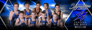 Wrestling - v.2 - Signature Player - Team Panoramic-Photoshop Template - Photo Solutions