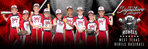 Baseball - v.3 - Signature Player - Team Panoramic Downloadable Template Photo Solutions PSMGraphix