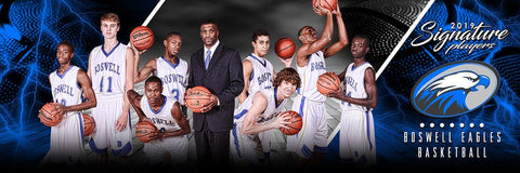 Basketball - v.3 - Signature Player - Team Panoramic Downloadable Template Photo Solutions PSMGraphix