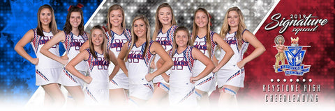 Cheer - v.3 - Signature Player - Team Panoramic-Photoshop Template - Photo Solutions