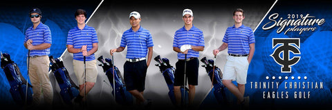 Golf - v.3 - Signature Player - Team Panoramic-Photoshop Template - Photo Solutions