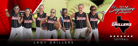Softball - v.3 - Signature Player - Team Panoramic-Photoshop Template - Photo Solutions