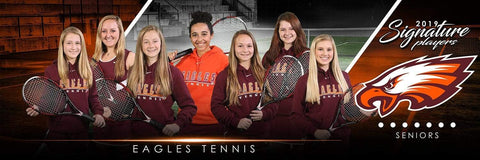 Tennis - v.3 - Signature Player - Team Panoramic Downloadable Template Photo Solutions PSMGraphix