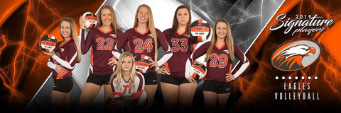 Volleyball - v.3 - Signature Player - Team Panoramic-Photoshop Template - Photo Solutions