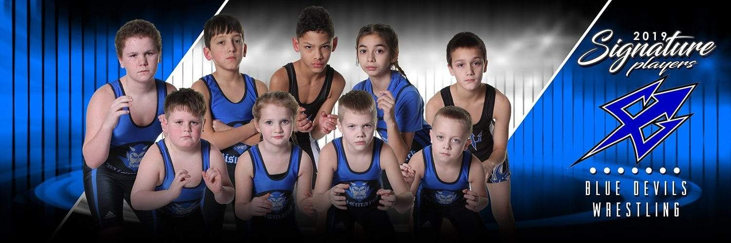Wrestling - v.3 - Signature Player - Team Panoramic-Photoshop Template - Photo Solutions